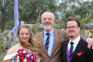 Arrangements for your wedding - Mick with marriied couple